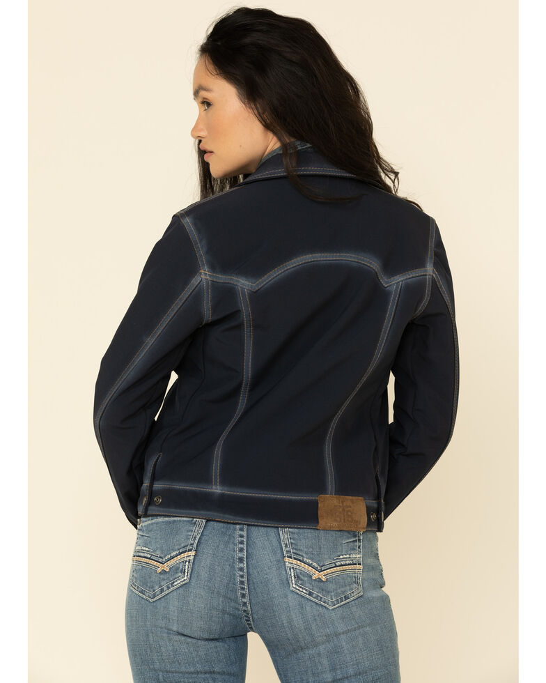 STS Ranchwear Women's Navy Brumby Softshell Jacket , Navy, hi-res