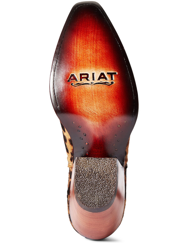 Ariat Women's Dixon Hair-On Leopard Print Fashion Booties - Snip Toe, Brown, hi-res