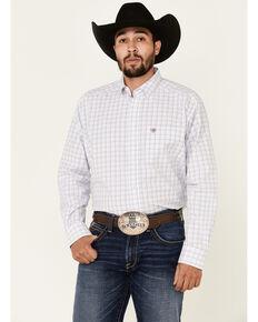 Ariat Men's Howard Multi Small Plaid Long Sleeve Button Western Shirt - Tall , Multi, hi-res
