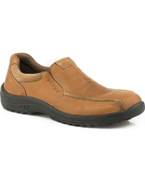 Roper Men's Tan Burly Casual Slip-On Shoes , Tan, hi-res