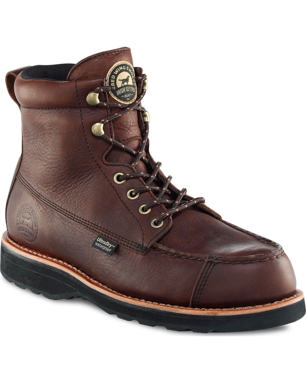 """Irish Setter by Red Wing Men's Wingshooter UltraDry 7"""" Work Boots , Brown, hi-res"""