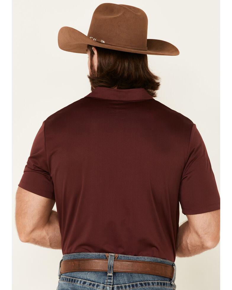 Rock & Roll Denim Men's Solid Maroon Short Sleeve Polo Shirt , Burgundy, hi-res