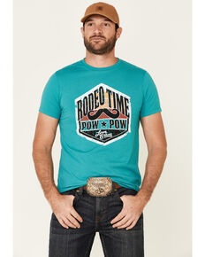 Dale Brisby Men's Turquoise Pow Pow Graphic T-Shirt , Turquoise, hi-res