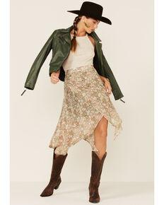 Sadie & Sage Women's No Tribulations Midi Skirt , Sage, hi-res