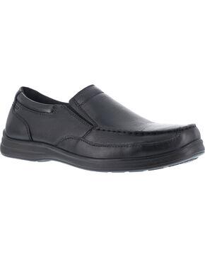Florsheim Men's Slip-on Work Shoes - Steel Toe , Black, hi-res