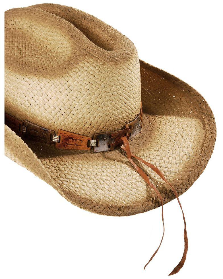 Bulllhide Star Central Straw Cowboy Hat, Natural, hi-res