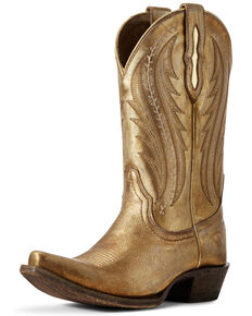 Ariat Women's Tailgate Gold Cowgirl Boots - Snip Toe, Beige/khaki, hi-res