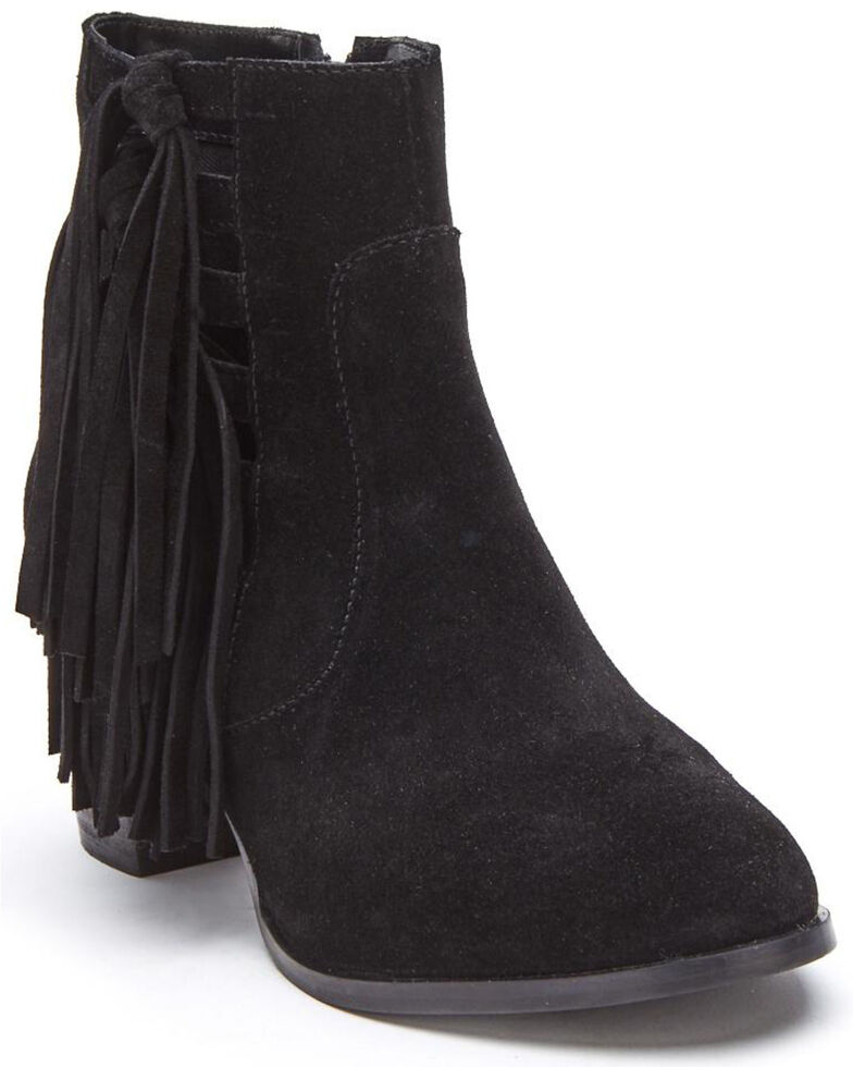 Matisse Women's Black Stroll Fashion Booties - Round Toe, Black, hi-res