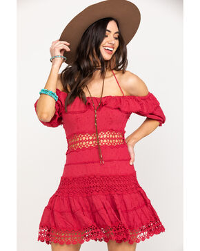 Free People Women's Cruel Intentions Dress, Red, hi-res