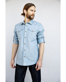 Kimes Ranch Men's Indigo Hud Long Sleeve Western Shirt , Indigo, hi-res