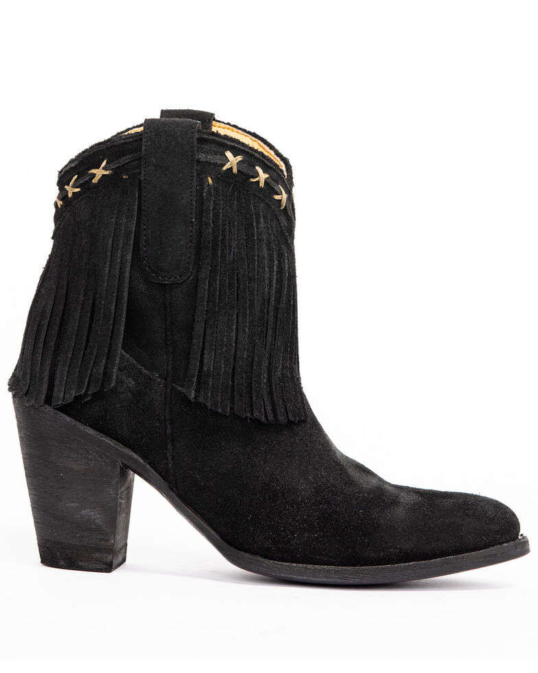 Idyllwind Women's Swagger Western Booties - Pointed Toe, Black, hi-res