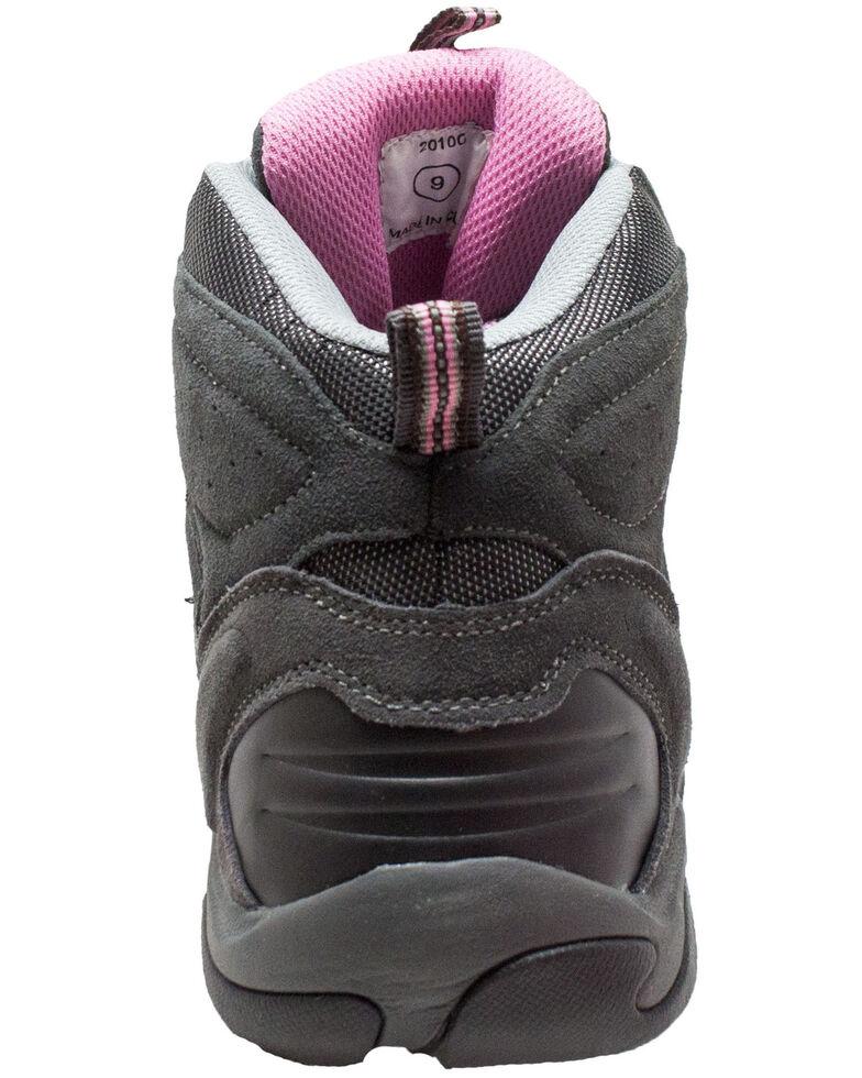 Ad Tec Women's Waterproof Lace-Up Work Boots - Composite Toe, Grey, hi-res
