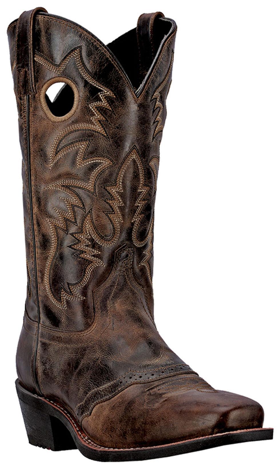 Laredo Pequin Cowboy Boots - Square Toe, Taupe, hi-res