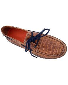 Ferrini Women's Honey Croc Print Shoes - Moc Toe, Honey, hi-res