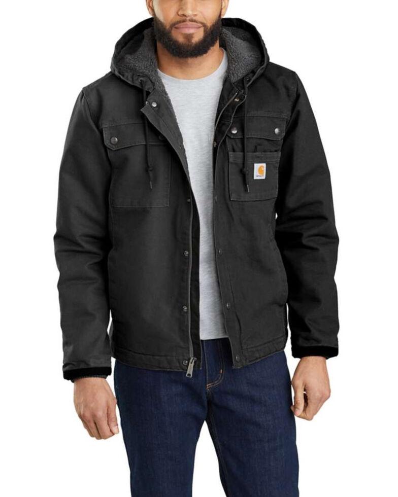 Carhartt Men's Black Washed Duck Bartlett Jacket , Black, hi-res