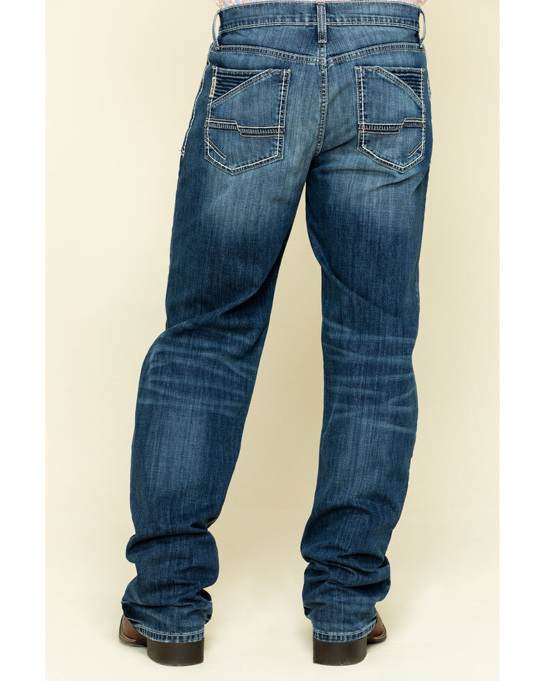 Cinch Men's Grant Performance Stretch Relaxed Boot Jeans , Indigo, hi-res