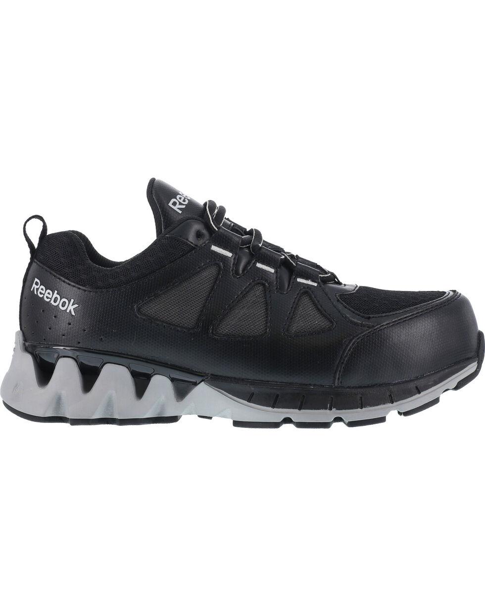 Reebok Women's ZigKick Oxford Athletic Work Shoes - Composite Toe , Black, hi-res