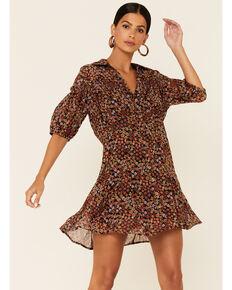 Free People Women's Bonnie Mini Dress , Black, hi-res