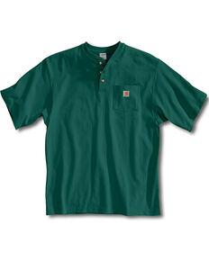 Carhartt Short Sleeve Henley Work Shirt - Big & Tall, Hunter Green, hi-res