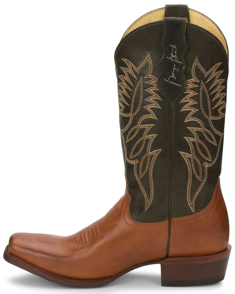 Justin Men's Honkytonkville Western Boots - Square Toe, Brown, hi-res
