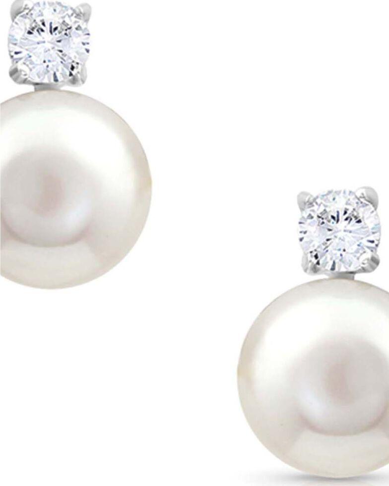 Montana Silversmiths Women's Dew Drop Post Earrings, White, hi-res
