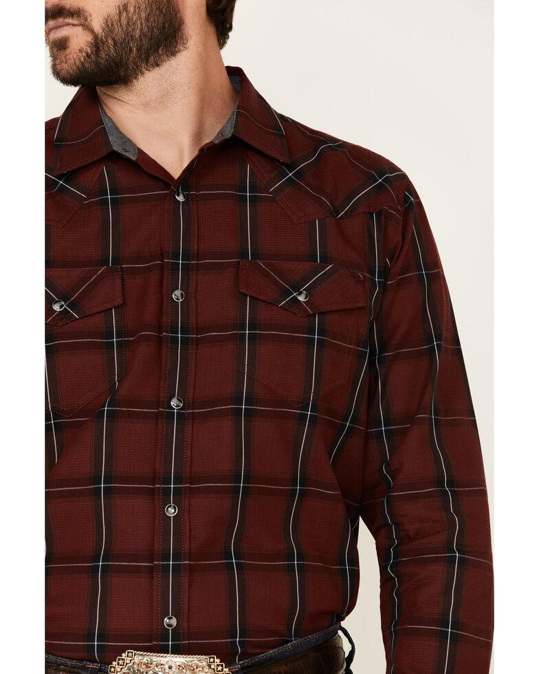 Cody James Men's Horseback Large Plaid Long Sleeve Snap Western Shirt - Big , Burgundy, hi-res