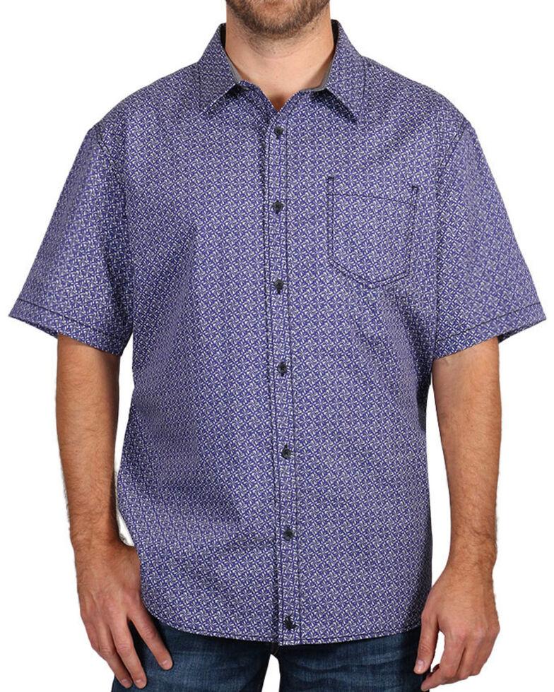 Cody James Men's Printed Short Sleeve Shirt, White, hi-res