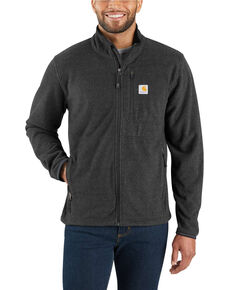 Carhartt Men's Dalton Full-Zip Fleece Work Jacket - Tall , Black, hi-res