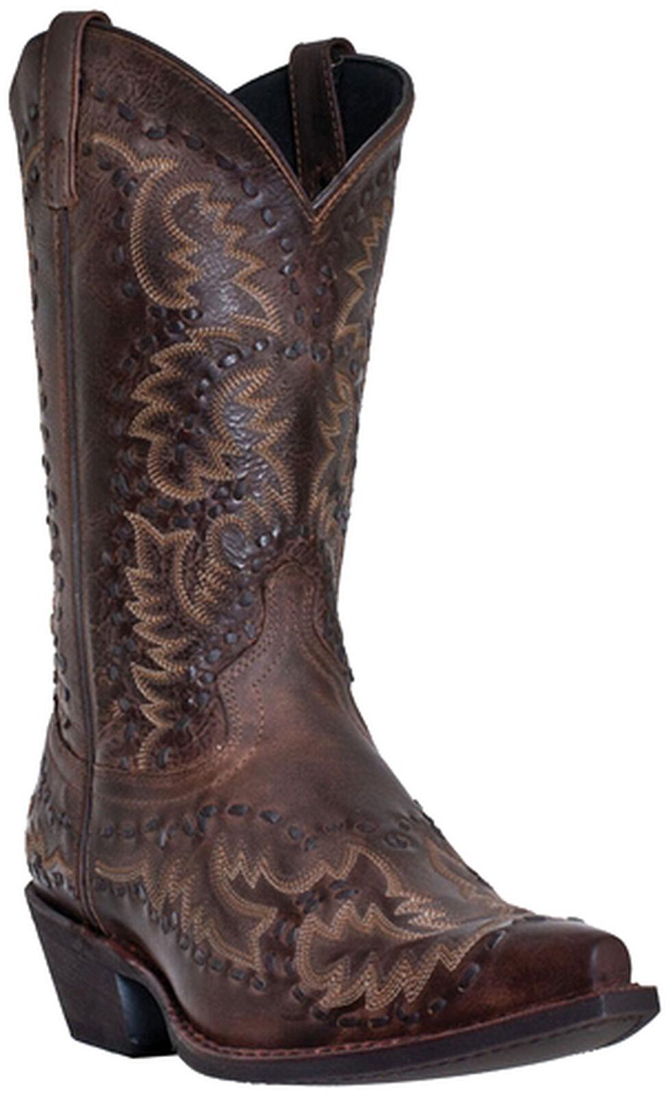 Laredo Midnight Rider Cowboy Boots - Snip Toe, Burgundy, hi-res