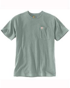 Carhartt Men's Blue Cast Solid Relaxed Short Sleeve Work T-Shirt , Blue, hi-res