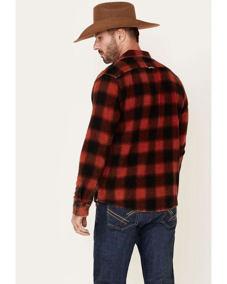 Flag & Anthem Men's Shaw Vintage Washed Plaid Long Sleeve Western Flannel Shirt , Dark Red, hi-res