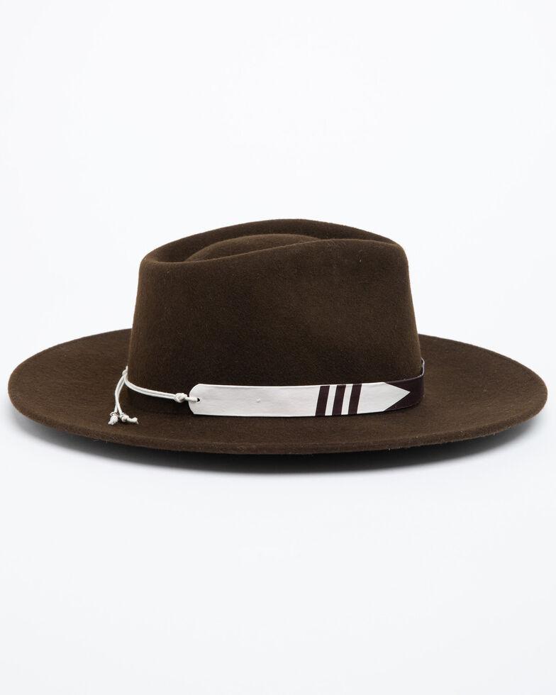 Nikki Beach Women's Brown Journey Wool Felt Hat , Brown, hi-res