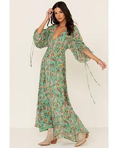 Free People Women's Earthfolk Maxi Dress, Green, hi-res