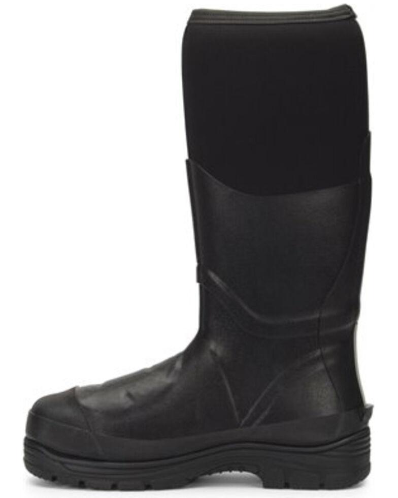 "Double H Men's 16"" Rubber Work Boots - Steel Toe, Black, hi-res"