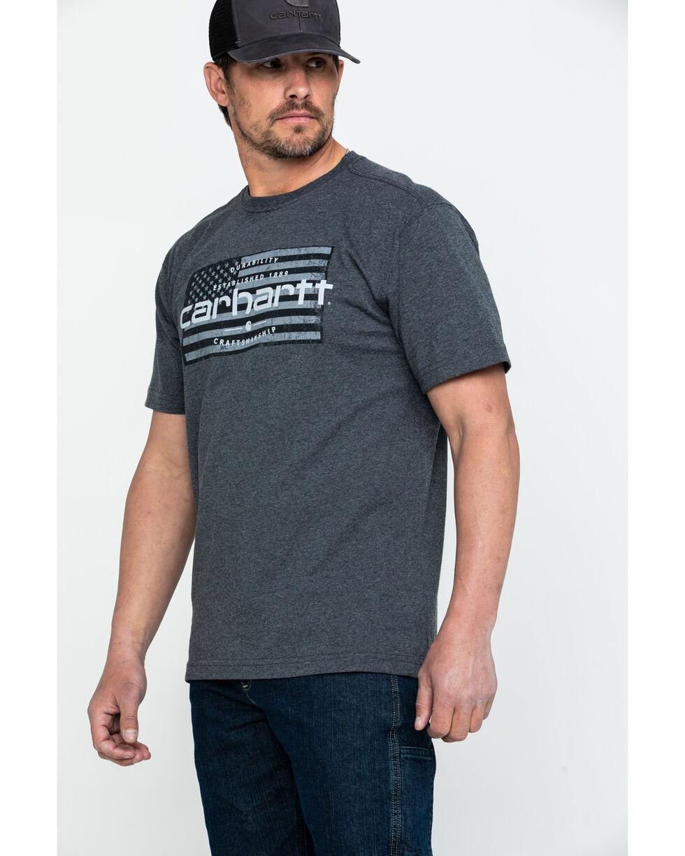 Carhartt Men's Craftsmanship Flag Graphic Work T-Shirt , Grey, hi-res