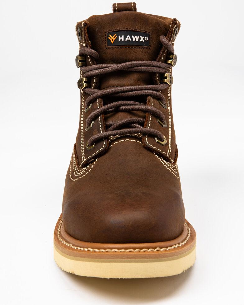 "Hawx® Men's 6"" Lacer Work Boots - Soft Toe, Brown, hi-res"