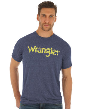 Wrangler Men's Classic Logo Graphic T-Shirt , Blue, hi-res