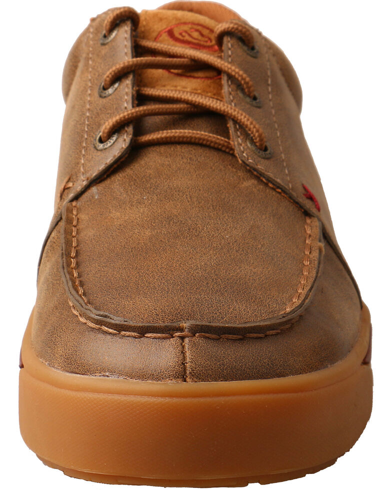 Twisted X Men s Hooey Smooth Leather Casual Shoes - Moc Toe ... 0b15dc2c4e8