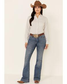 Ariat Women's Stripe TEK Stretch Long Sleeve Button-Down Western Core Shirt, Violet, hi-res