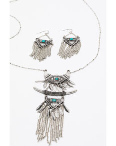 Shyanne Women's Summer Escape Pagoda Jewelry Set , Silver, hi-res