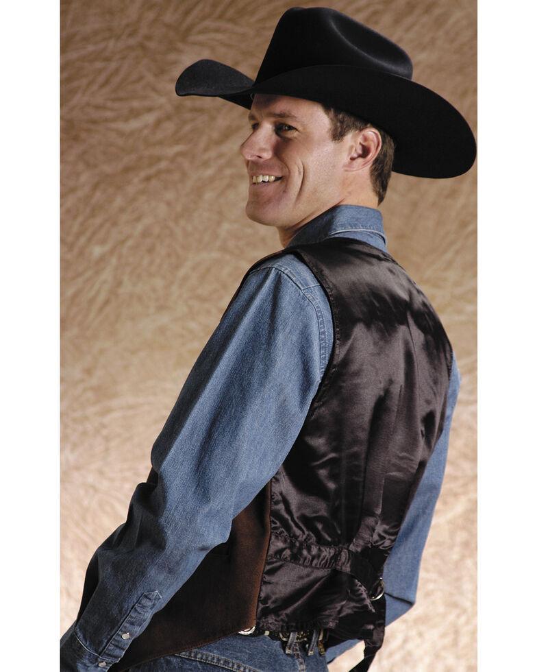 Roper Suede Buckle Tie Vest , Brown, hi-res