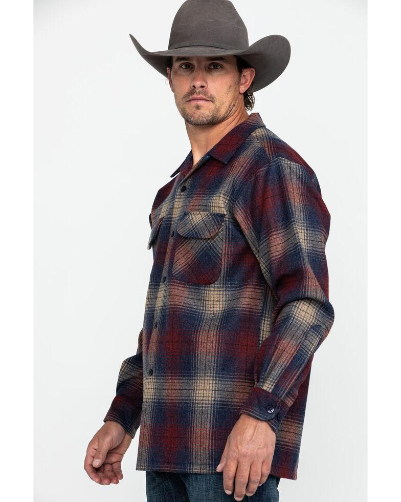 Pendleton Men's Original Board Flannel Shirt Jacket, Dark Red, hi-res