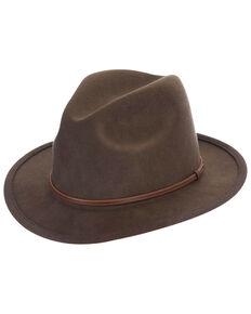 Black Creek Fall Brown Crushable Western Wool Felt Hat , Brown, hi-res