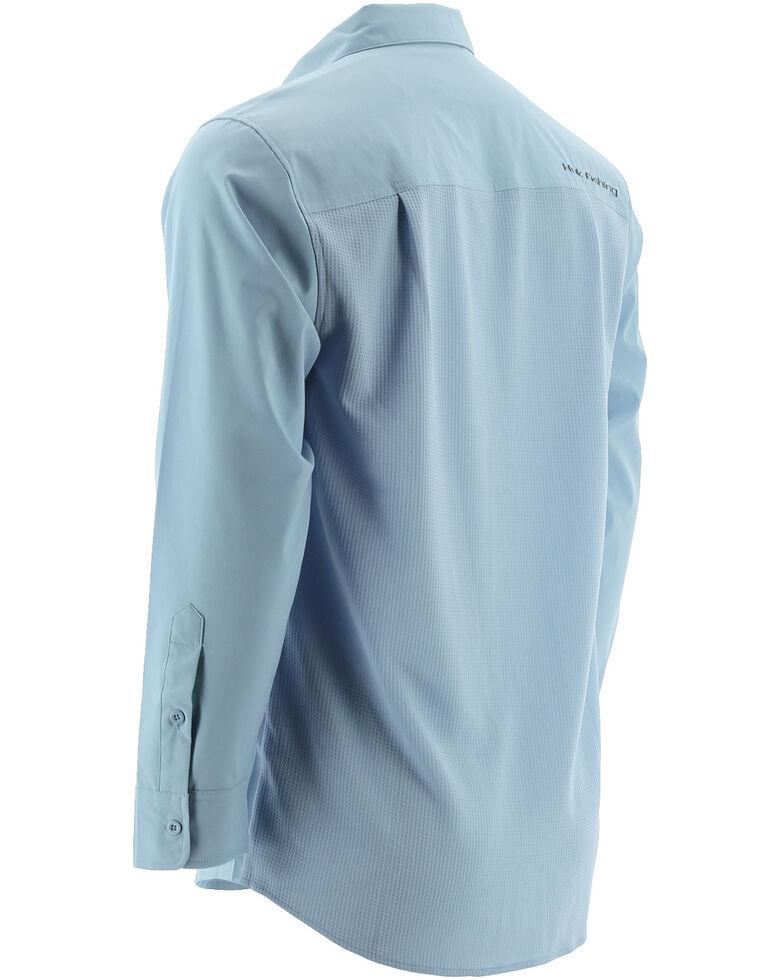Huk Performance Fishing Men's Phenom Long Sleeve Shirt , Light Blue, hi-res