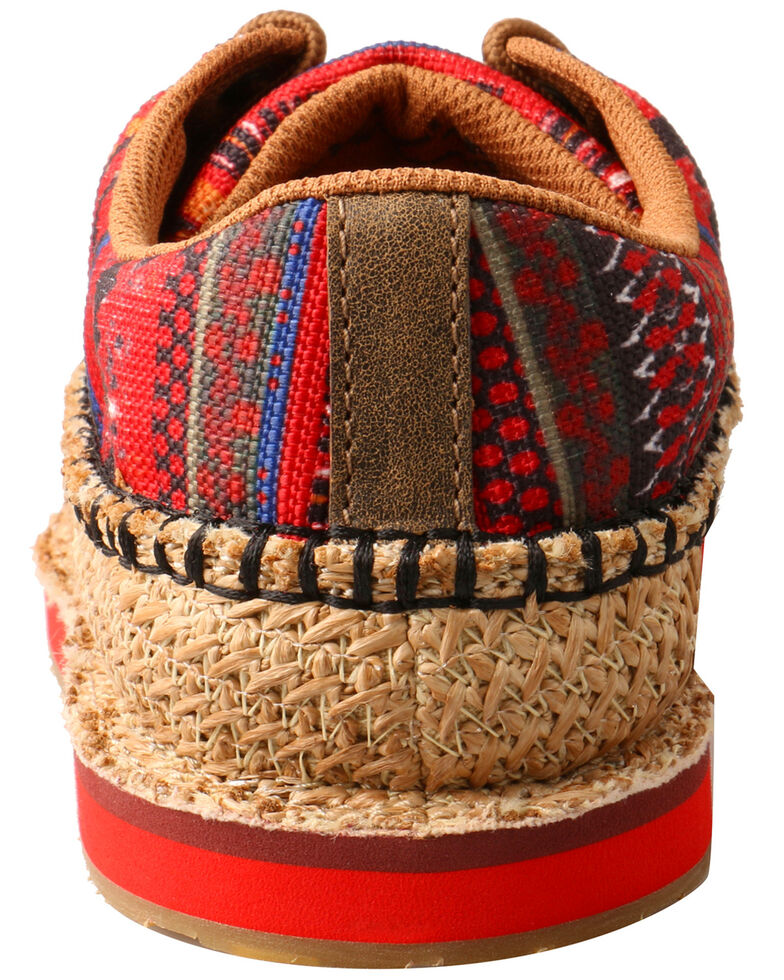 Twisted X Women's Weave Moccasin Shoes - Moc Toe, Red, hi-res