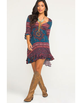 Idyllwind Women's Wandering Wind Dress, Burgundy, hi-res