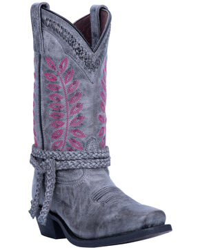 Laredo Women's Fern Grey Western Boots - Square Toe, Grey, hi-res