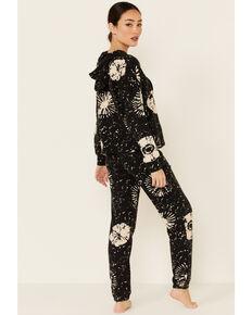 PJ Salvage Women's Stormy Monday Sweatpants, Charcoal, hi-res