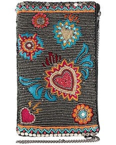 Mary Frances Women's Flaming Hearts Cell Phone Pouch, Multi, hi-res