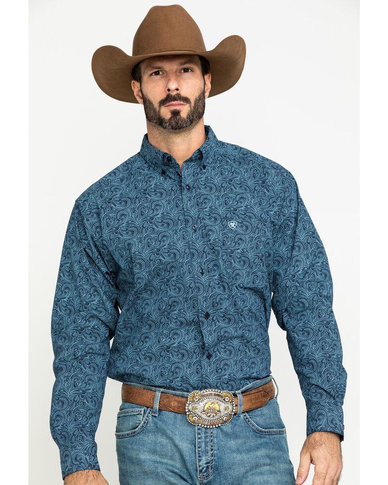 Ariat Men's Longmont Stretch Paisley Print Long Sleeve Western Shirt - Big , Multi, hi-res